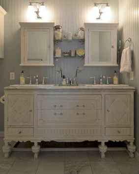50 Stunning Farmhouse Bathroom Vanity Decor Ideas (104)