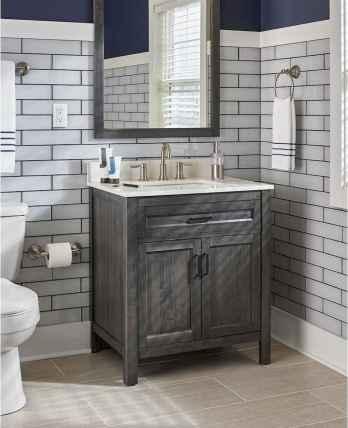 50 Stunning Farmhouse Bathroom Vanity Decor Ideas (117)