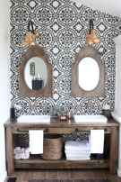50 Stunning Farmhouse Bathroom Vanity Decor Ideas (14)