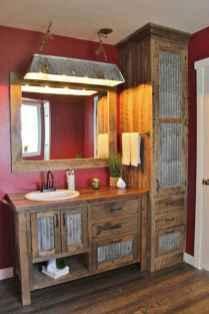 50 Stunning Farmhouse Bathroom Vanity Decor Ideas (26)