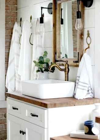 50 Stunning Farmhouse Bathroom Vanity Decor Ideas (45)