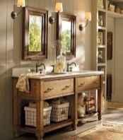 50 Stunning Farmhouse Bathroom Vanity Decor Ideas (54)