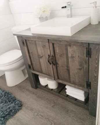 50 Stunning Farmhouse Bathroom Vanity Decor Ideas (57)
