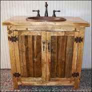 50 Stunning Farmhouse Bathroom Vanity Decor Ideas (61)