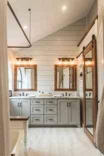 50 Stunning Farmhouse Bathroom Vanity Decor Ideas (71)