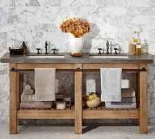 50 Stunning Farmhouse Bathroom Vanity Decor Ideas (76)