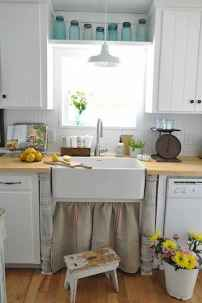 70 Best Farmhouse Kitchen Curtains Decor Ideas (20)