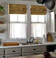 70 Best Farmhouse Kitchen Curtains Decor Ideas (55)