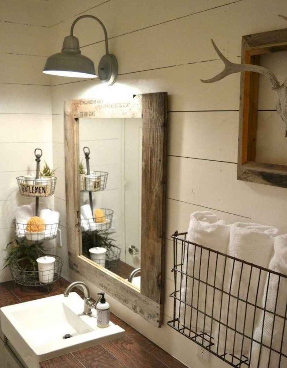 90 Awesome Lamp For Farmhouse Bathroom Lighting Ideas (41)