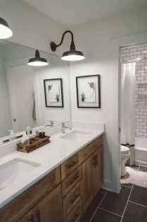 90 Awesome Lamp For Farmhouse Bathroom Lighting Ideas (57)