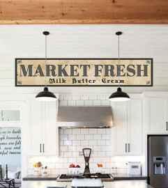90 Best Farmhouse Kitchen Cabinet Design Ideas (120)