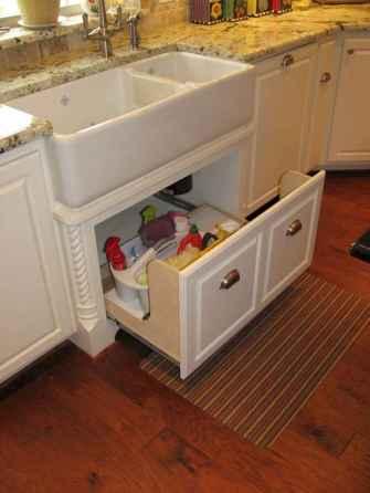 90 Best Farmhouse Kitchen Cabinet Design Ideas (125)