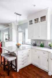 100 Elegant White Kitchen Cabinets Decor Ideas For Farmhouse Style Design (84)