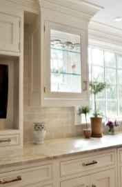 100 Elegant White Kitchen Cabinets Decor Ideas For Farmhouse Style Design (85)