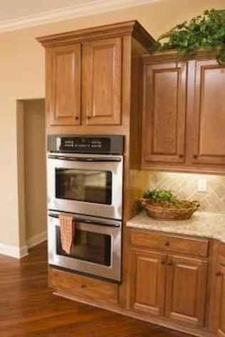 100 Supreme Oak Kitchen Cabinets Ideas Decoration For Farmhouse Style (39)