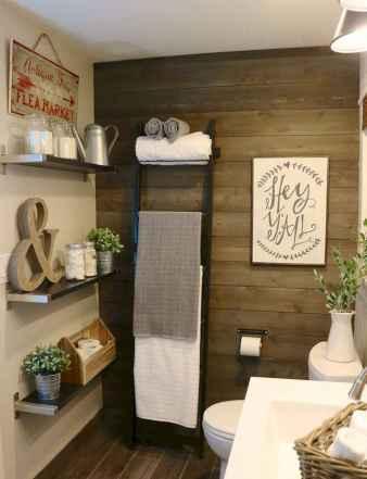 110 Fabulous Farmhouse Bathroom Decor Ideas (112)