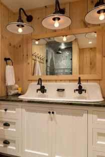 110 Fabulous Farmhouse Bathroom Decor Ideas (71)