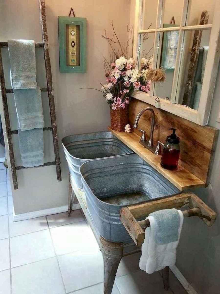 50 Amazing Farmhouse Bathroom Vanity Decor Ideas (106)