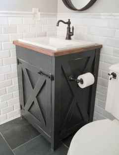 50 Amazing Farmhouse Bathroom Vanity Decor Ideas (109)