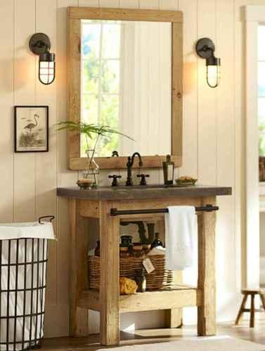 50 Amazing Farmhouse Bathroom Vanity Decor Ideas (124)