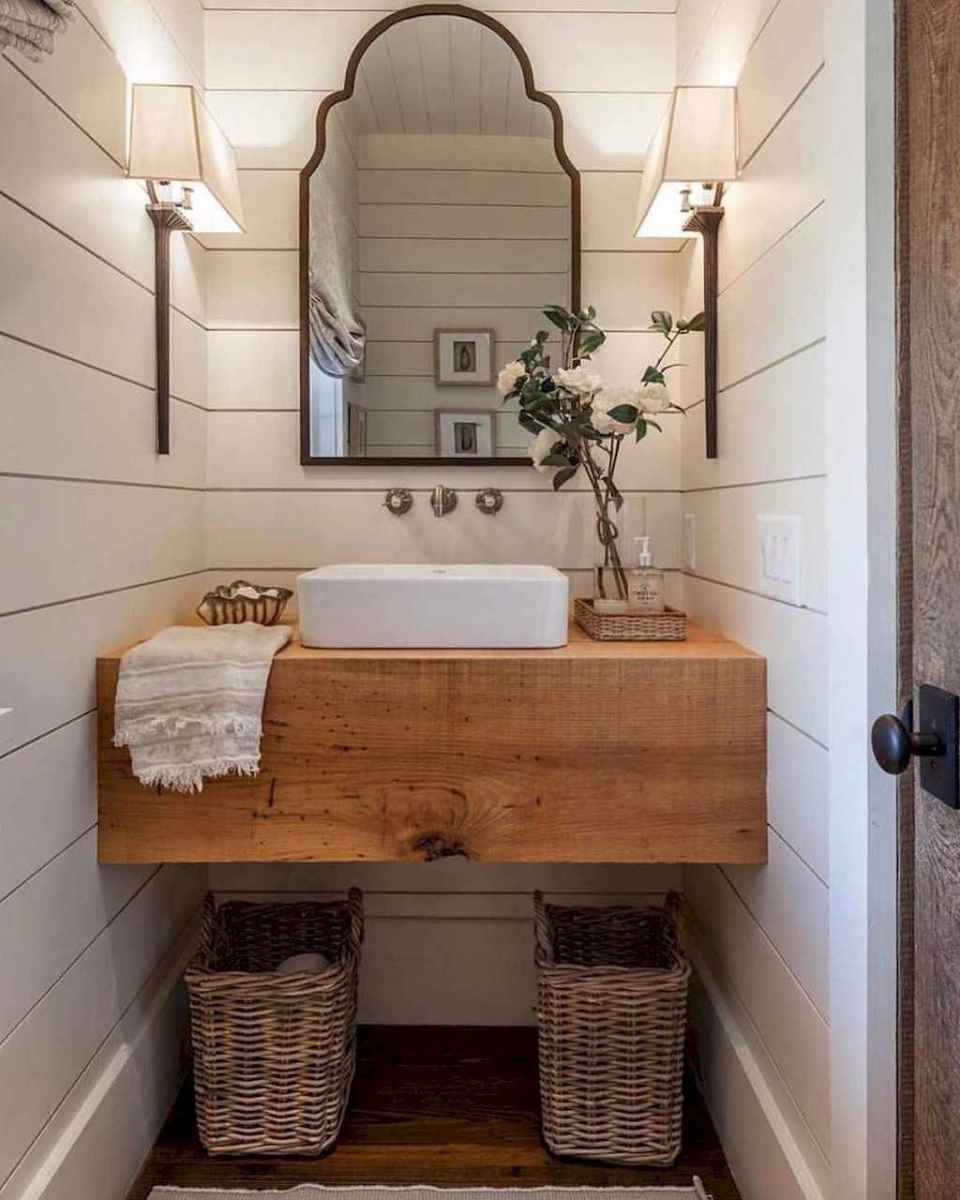 50 Amazing Farmhouse Bathroom Vanity Decor Ideas (2)