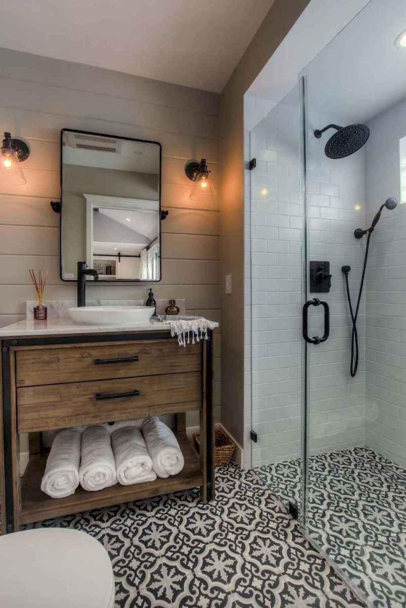 50 Amazing Farmhouse Bathroom Vanity Decor Ideas (21)