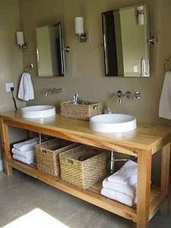 50 Amazing Farmhouse Bathroom Vanity Decor Ideas (31)
