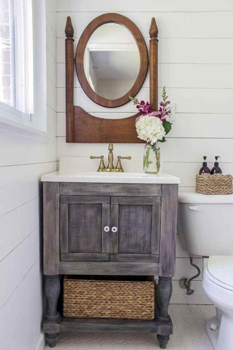 50 Amazing Farmhouse Bathroom Vanity Decor Ideas (43)