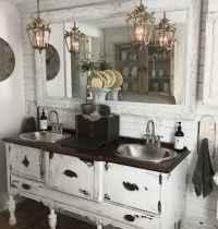 50 Amazing Farmhouse Bathroom Vanity Decor Ideas (49)