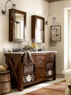 50 Amazing Farmhouse Bathroom Vanity Decor Ideas (6)