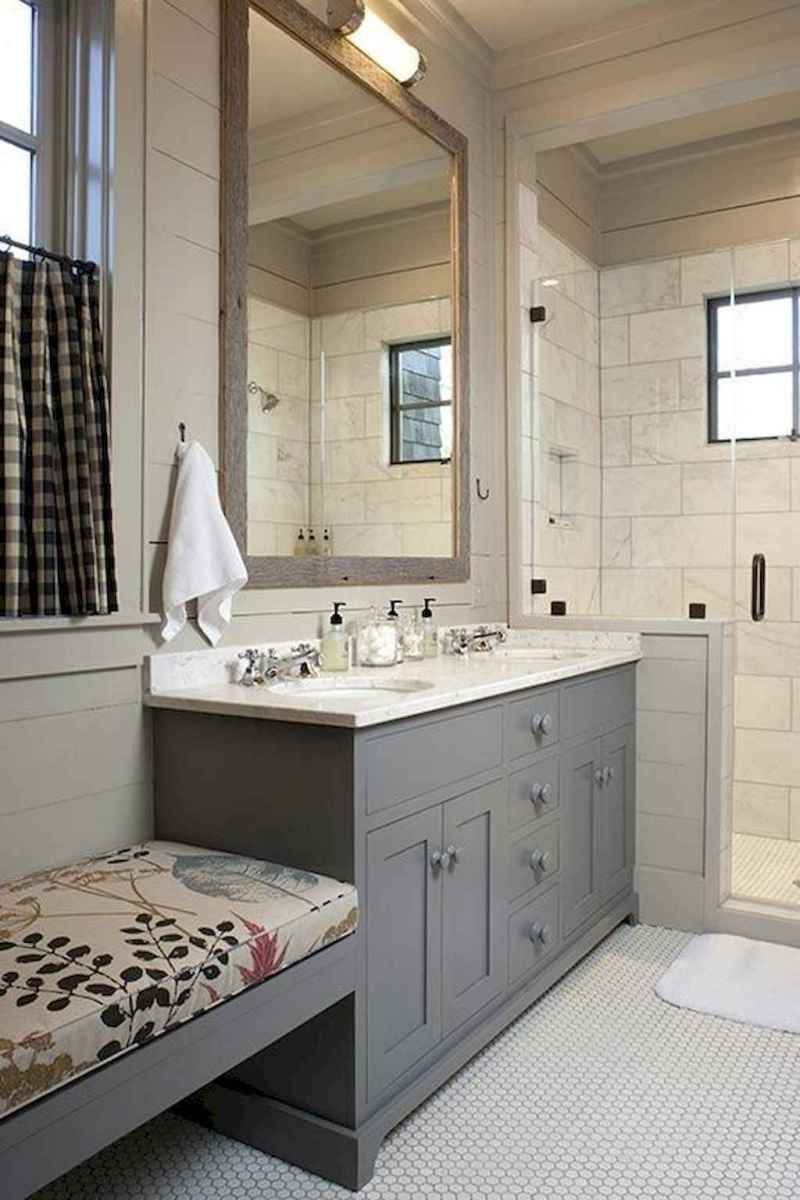 50 Amazing Farmhouse Bathroom Vanity Decor Ideas (62)