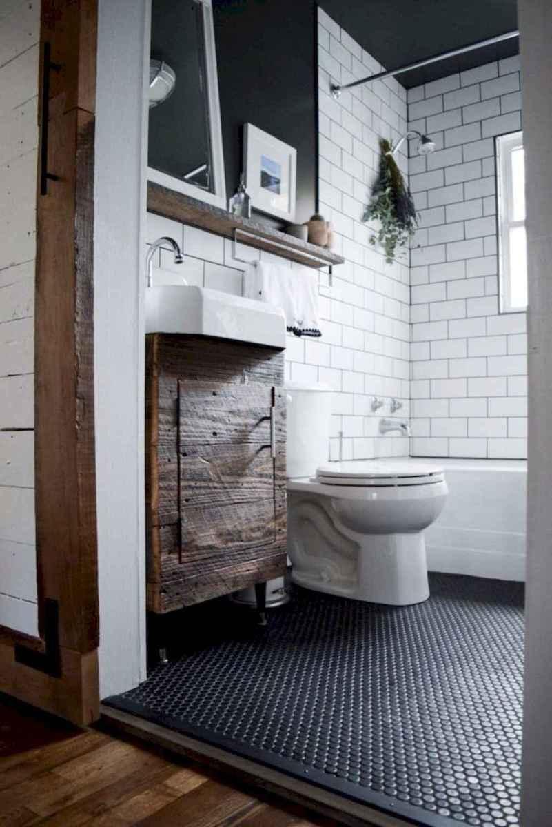 50 Amazing Farmhouse Bathroom Vanity Decor Ideas (91)