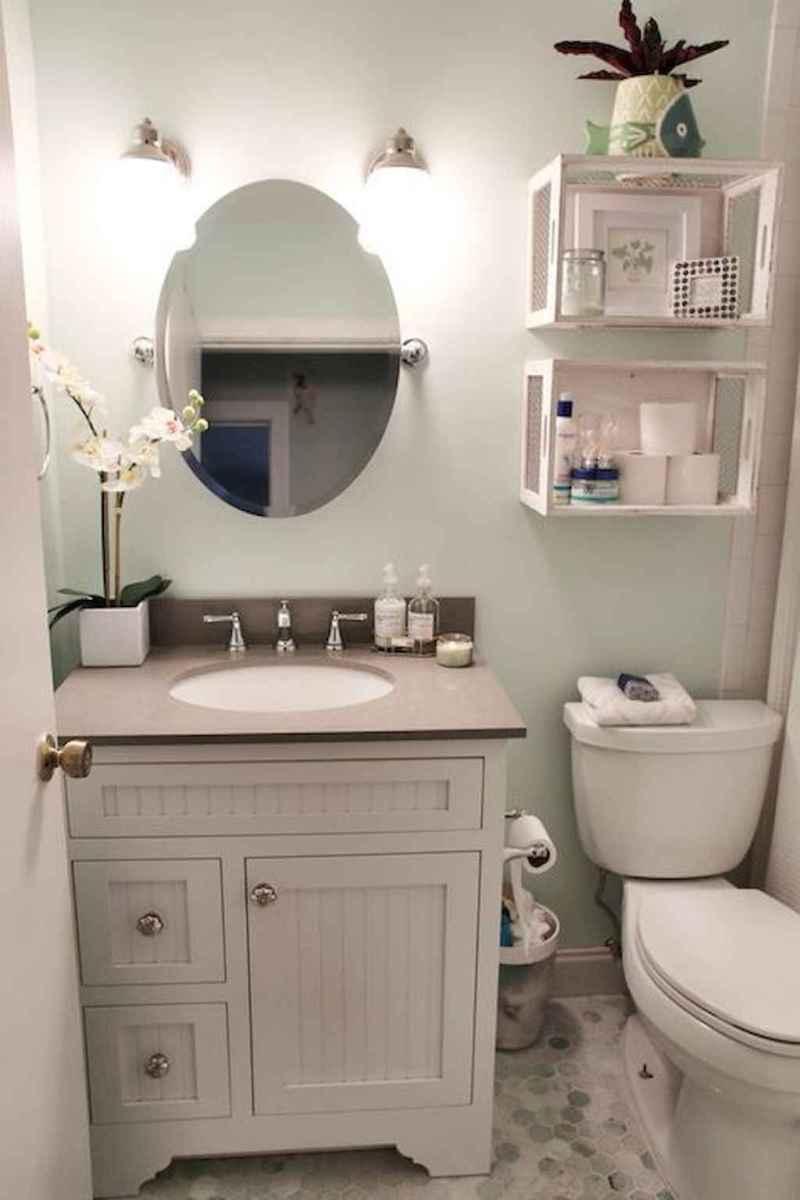 50 Amazing Farmhouse Bathroom Vanity Decor Ideas (95)