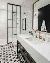 80 Cool Farmhouse Tile Shower Ideas Remodel (73)