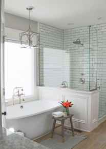 80 Cool Farmhouse Tile Shower Ideas Remodel (77)