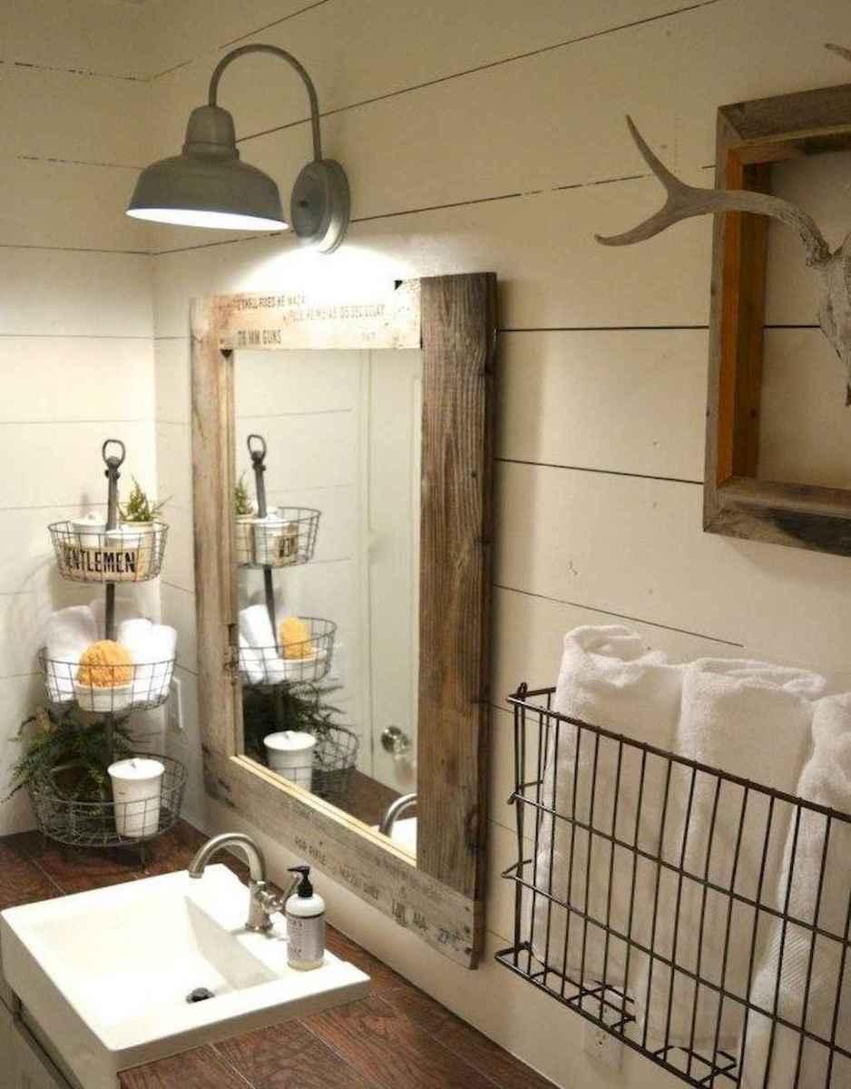 90 Awesome Lamp For Farmhouse Bathroom Lighting Ideas (117)