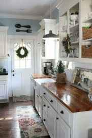 90 Best Farmhouse Kitchen Cabinet Design Ideas (26)