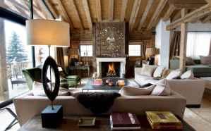 35 Chalet Living Room Decor Ideas (27)