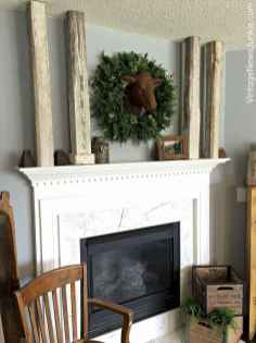 40 Awesome Farmhouse Fireplace Decor Ideas and Remodel (22)