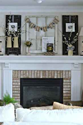 40 Awesome Farmhouse Fireplace Decor Ideas and Remodel (26)