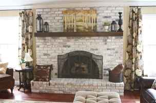 40 Awesome Farmhouse Fireplace Decor Ideas and Remodel (31)