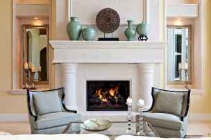 40 Awesome Farmhouse Fireplace Decor Ideas and Remodel (32)