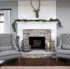 40 Awesome Farmhouse Fireplace Decor Ideas and Remodel (37)