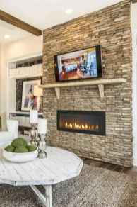 40 Awesome Farmhouse Fireplace Decor Ideas and Remodel (39)