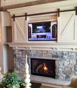 40 Awesome Farmhouse Fireplace Decor Ideas and Remodel (5)