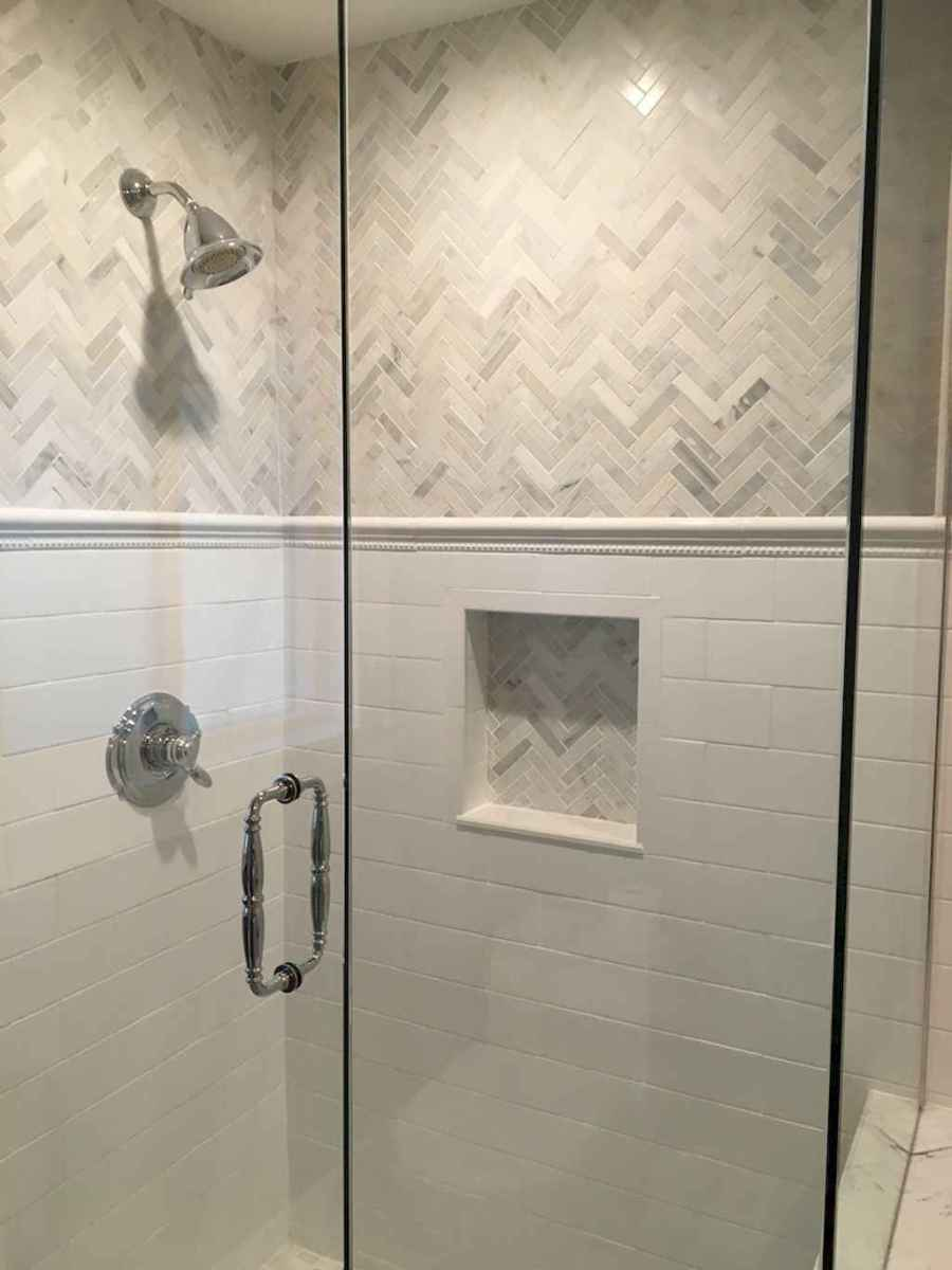 40 Beautiful Bathroom Shower Tile Design Ideas and Makeover (23)