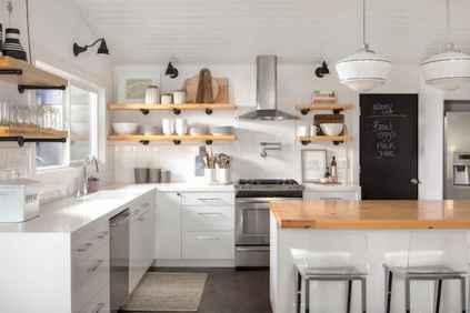 45 Modern Farmhouse Kitchen Cabinets Decor Ideas and Makeover (18)