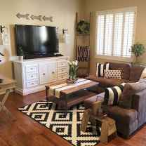 50 Best Rustic Apartment Living Room Decor Ideas and Makeover (36)