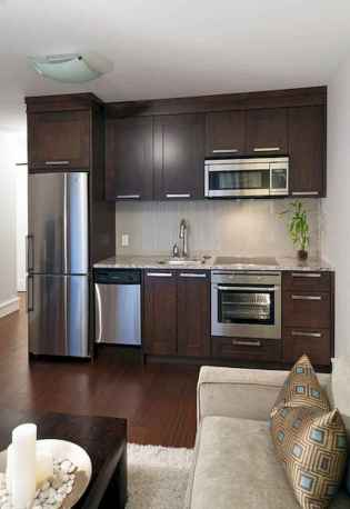 50 Cool Apartment Kitchen Rental Decor Ideas and Makeover (47)