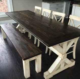 60 Brilliant Farmhouse Kitchen Table Design Ideas and Makeover (18)